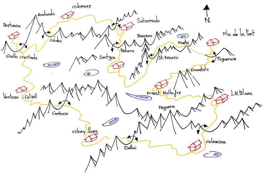 Refugi Pla De La Font Mapa Carros De Foc Open Plus